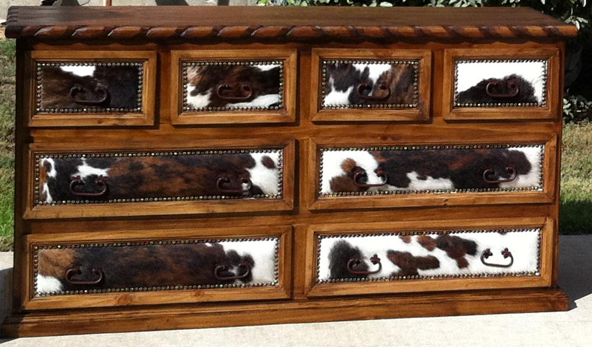 rustic cowhide bedroom furniture sets free shipping