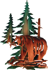 3D Wall art, decor and wall hangings of bear