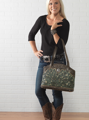 Concealed Carry Half Moon Tote.