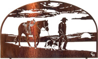 Wall art, decor and wall hangings of Cowboys and Horsesl