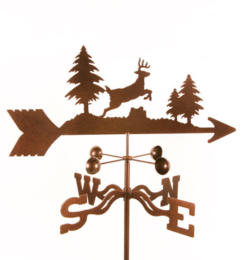 running deer weather vane