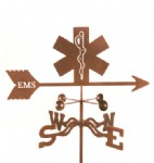 emergency emblem weather vane