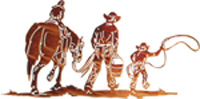 Metal Wall art, decor and wall hangings of COWBOY AND SON
