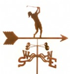 LADY GOLFER WEATHER VANE