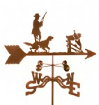 HUNTER AND DOG WEATHER VANE