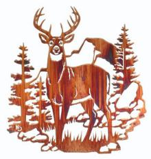 Wall art, decor and wall hangings of Deer.