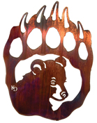 Metal Wall art, decor and wall hangings of BEAR PAW AND CUB