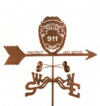 weather vane with police shield