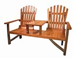 Adirondack Love Seat with Table