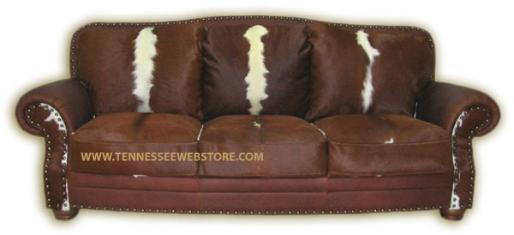 Rustic Sofas, Log Cabin Couches, Cowhide Sleeper Sofas