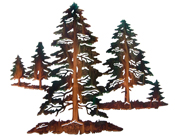 Metal Wall art, decor and wall hangings of FORESTS, TREES