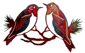 Metal Wall art, decor and wall hangings of BIRDS, BLUE BIRDS