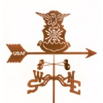 weather vane with army insignia