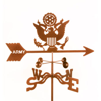 Weather Vanes with Military emblems