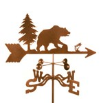 weather vane with a bear